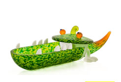 CROCODILE - Studio Line - BOROWSKI GLASS at Ocean Blue Galleries