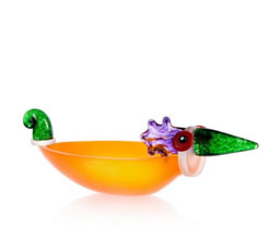 ENTE BOWL - Studio Line - BOROWSKI GLASS at Ocean Blue Galleries