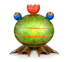 Frog - Outdoor Line - BOROWSKI GLASS at Ocean Blue Galleries