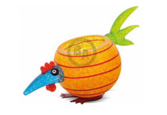 PICK CHICK BOWL - Studio Line - BOROWSKI GLASS ART FOR SALE at Ocean Blue Galleries