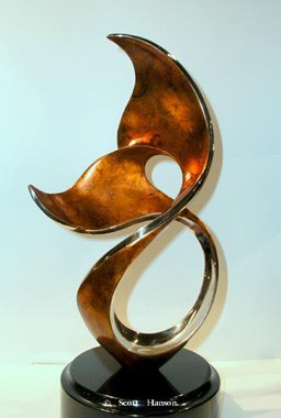WINTER SONG 16 - FIRE PATINA by Scott Hanson at Ocean Blue Galleries