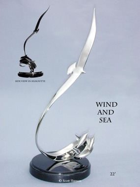 Wind & Sea Stainless 1 by Scott Hanson at Ocean Blue Galleries