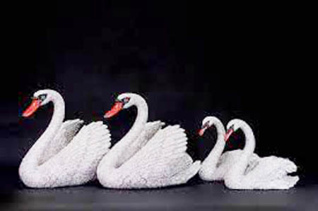 SWAN FAMILY by Clarita Brinkerhoff Ocean Blue Galleries