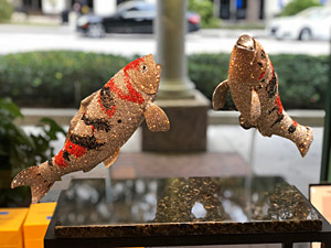 TWO KOI by Clarita Brinkerhoff Ocean Blue Galleries