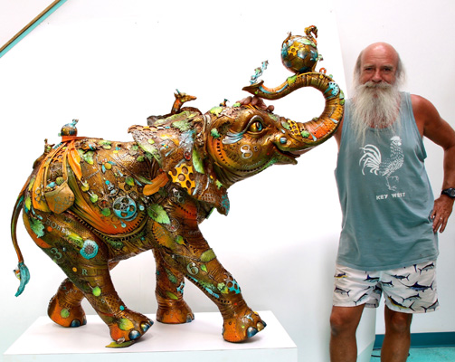 BOBBY LIFE SIZE Sculpture by Nano Lopez at Ocean Blue Galleries