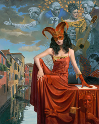 12th Caprice of Casanova by Michael Cheval at Ocean Blue Galleries