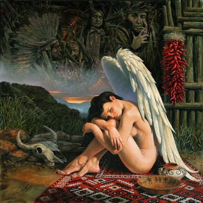 Angel of Santa-Fe by Michael Cheval at Ocean Blue Galleries