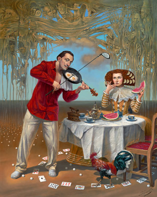 Breakfast with Humpty Dumpty by Michael Cheval at Ocean Blue Galleries