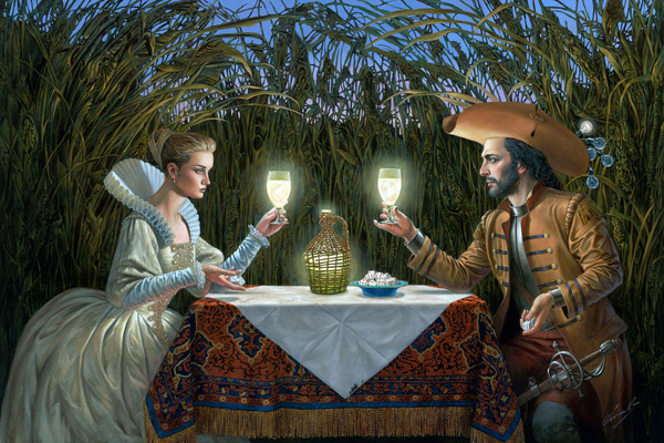 Delighted by Light by Michael Cheval at Ocean Blue Galleries