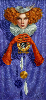 Levity of Time by Michael Cheval at Ocean Blue Galleries