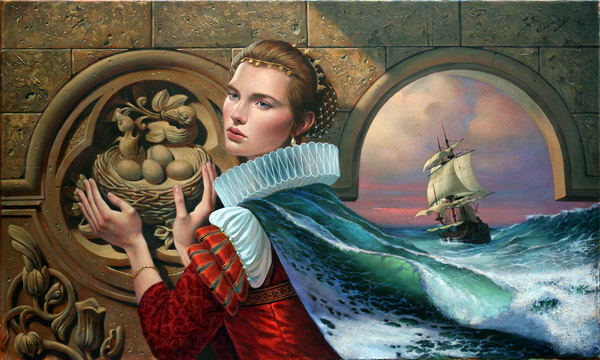Nostaliga III by Michael Cheval at Ocean Blue Galleries