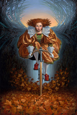 On the Wings of Fall II by Michael Cheval at Ocean Blue Galleries