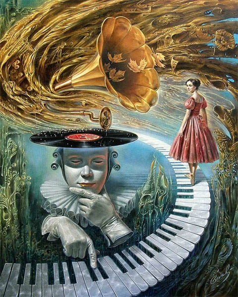 Sounding Silence III by Michael Cheval at Ocean Blue Galleries