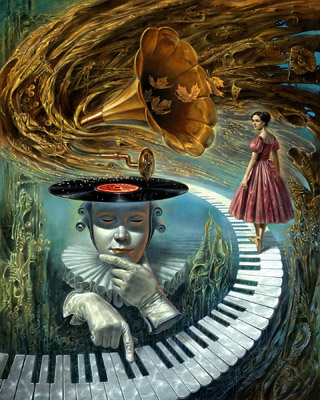 Sounding Silence by Michael Cheval at Ocean Blue Galleries