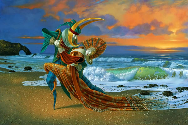 Sunset Tango by Michael Cheval at Ocean Blue Galleries