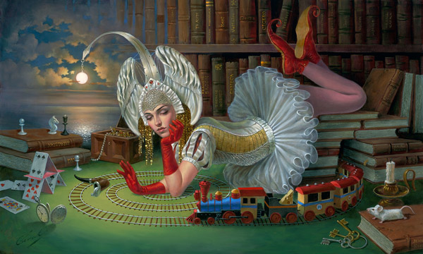 Train of Thought by Michael Cheval at Ocean Blue Galleries