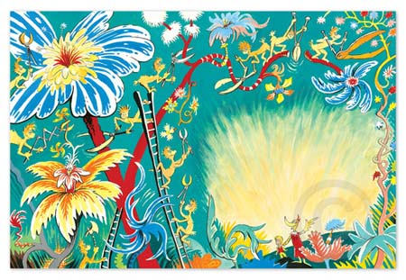 A PLETHORA OF FLOWERS Dr. Seuss Illustration Ocean Blue Galleries
