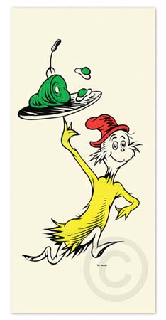 GREEN EGGS AND HAM 50TH ANNIVERSARY PRINT Dr. Seuss Illustration Ocean Blue Galleries