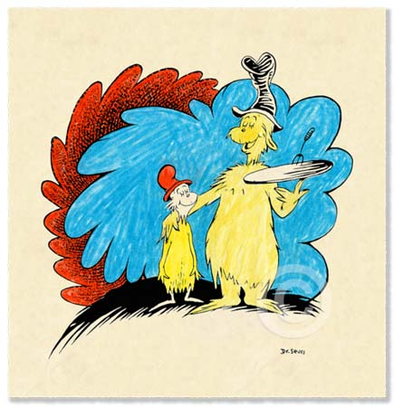 GREEN EGGS AND HAM 60TH ANNIVERSARY Dr. Seuss Illustration Ocean Blue Galleries