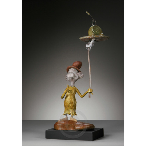 GREEN EGGS AND HAM - MAQUETTE Dr. Seuss Bronze Tribute Collection Ocean Blue Galleries