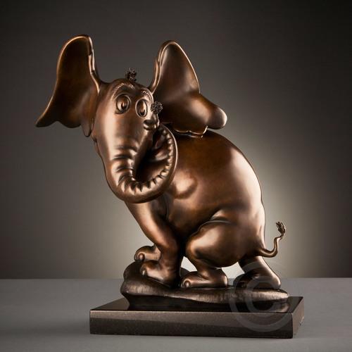 HORTON HEARS A WHO! - MAQUETTE Dr. Seuss Bronze Tribute Collection Ocean Blue Galleries