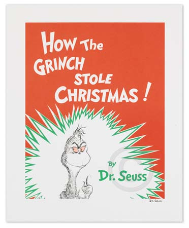 HOW THE GRINCH STOLE CHRISTMAS Dr. Seuss Illustration Ocean Blue Galleries