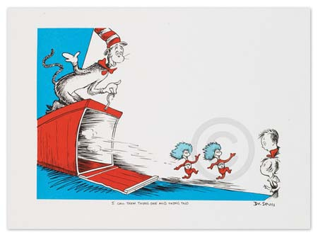 I CALL THEM THING ONE AND THING TWO Dr. Seuss Illustration Ocean Blue Galleries