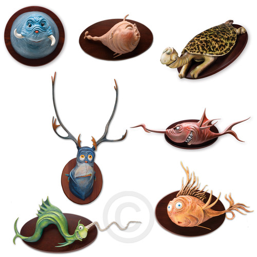 MARINE MUGGS SET Dr. Seuss Unorthodox Taxidermy Ocean Blue Galleries
