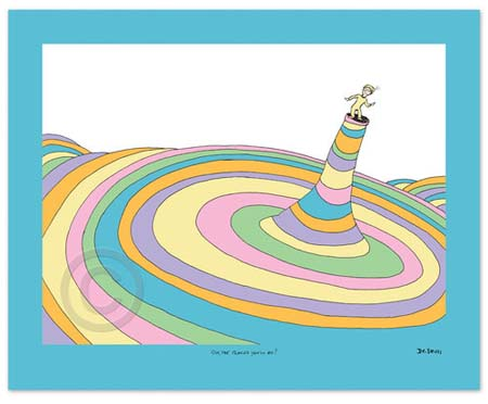 OH THE PLACES YOU'LL GO! COVER ILLUSTRATION Dr. Seuss Illustration Ocean Blue Galleries