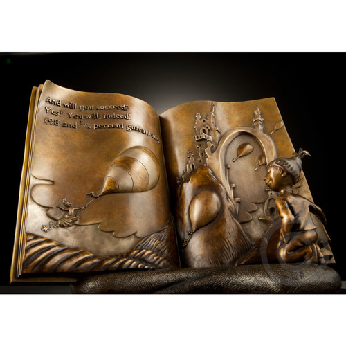 OH, THE PLACES YOU'LL GO! - MAQUETTE Dr. Seuss Bronze Tribute Collection Ocean Blue Galleries
