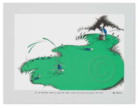 ON THE FAR AWAY ISLAND Dr. Seuss Illustration Ocean Blue Galleries