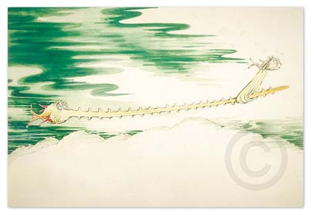 SAWFISH WITH SUCH A LONG SNOUT Dr. Seuss Illustration Ocean Blue Galleries