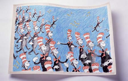 SINGING CATS Dr. Seuss Illustration Ocean Blue Galleries