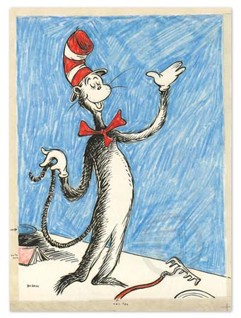 THE CAT THAT CHANGED THE WORLD Dr. Seuss Illustration Ocean Blue Galleries