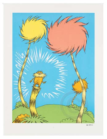 THE LORAX - BOOK COVER Dr. Seuss Illustration Ocean Blue Galleries