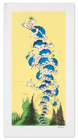 TURTLE TOWER Dr. Seuss Illustration Ocean Blue Galleries