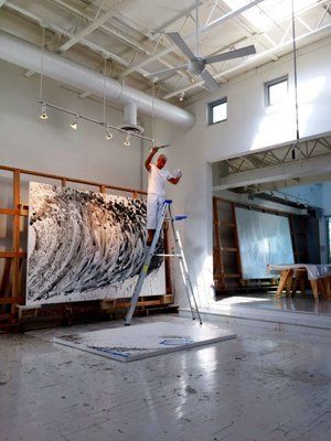 Tom Everhart in his Venice Studio