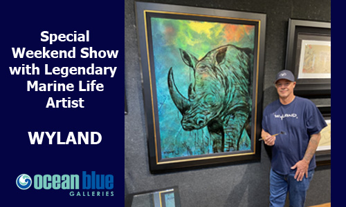 Ocean Blue Galleries Winter Park Art Show with Wyland