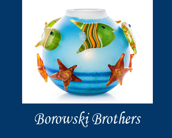 Borowski Brothers Glass Art at Ocean Blue Galleries Winter Park