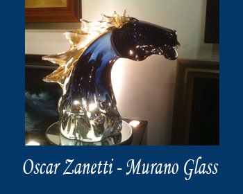 Murano Glass - Oscar Zanetti at Ocean Blue Galleries