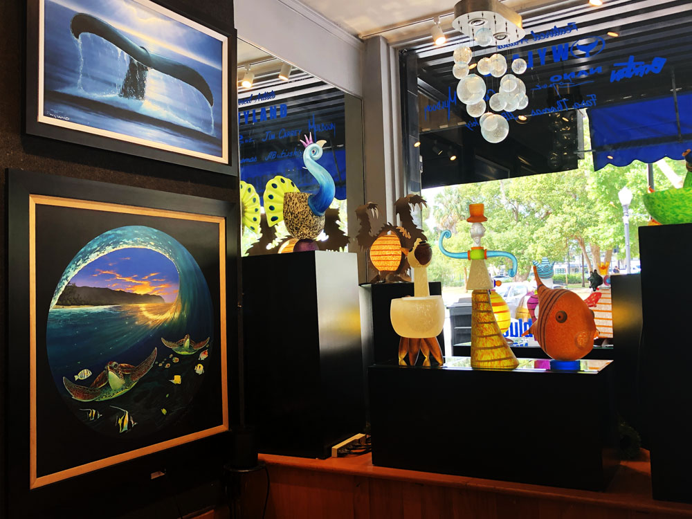 Ocean Blue Galleries Winter Park Art Gallery - Featuring Borowski Glass