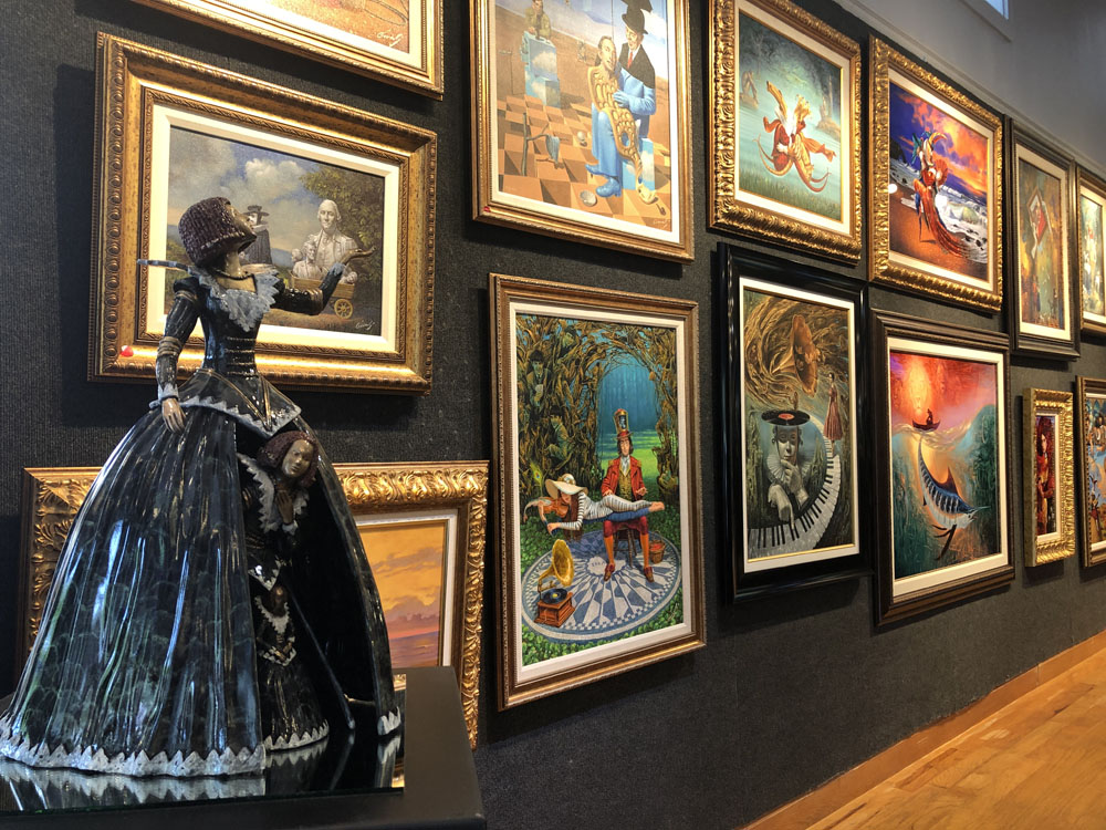 Ocean Blue Galleries Winter Park Art Gallery - Featuring Michael Cheval
